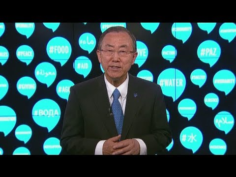 UN Secretary General Ban Ki-moon : Official address for World Humanitarian Day 2013
