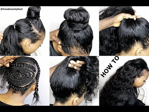 HOW TO DO NATURIAL LOOKING SEWIN WEAVE ( SUMMER HAIR )