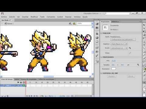 Como hacer una animacion con Flash Cs6 Sprites