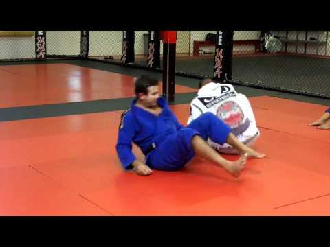 Brazilian Jiu-Jitsu Technique - Spider Guard Sweep and Leg Lock Image 1