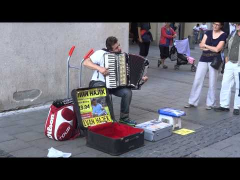 Awesome accordion player