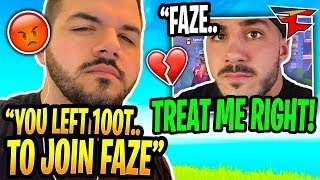 Nickmercs CONFRONTS CourageJD After Joining FaZe Clan & Leaving 100 Thieves (Emotional)