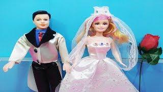 Đồ chơi trẻ em BÚP BÊ CÔ DÂU CHÚ RỂ - Kids toys dolls review