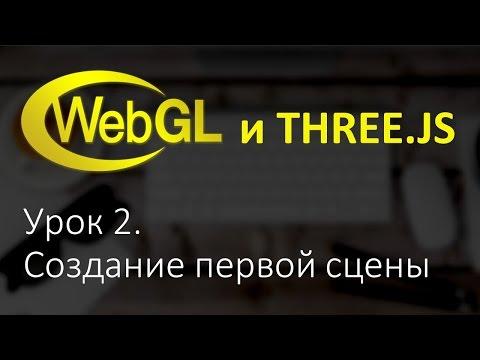 Webgl Three.js Урок 2. Создание первой сцены