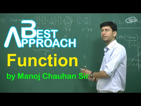 Maths Iit Function By Manoj Chauhan Sir video