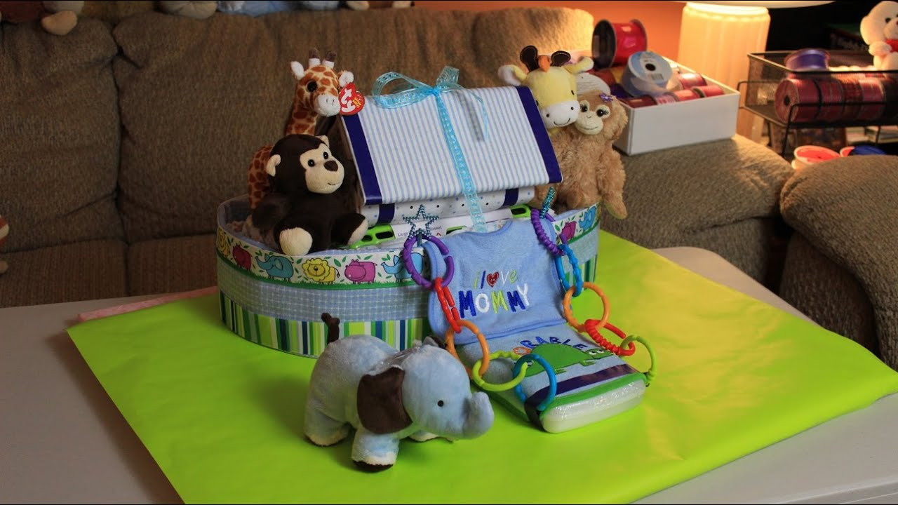 Noah S Ark Diaper Cake How To Make Youtube