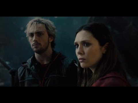 AVENGERS: AGE OF ULTRON - Elizabeth Olsen, Aaron Taylor Johnson, and Jeremy Latchham