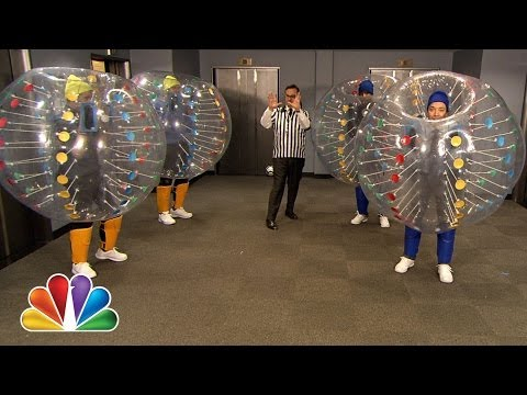 Bubble Soccer with Colin Farrell, Chris Pratt and Frank Knuckles (Late Night with Jimmy Fallon)