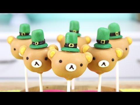 How to Make St. Patricks Day Rilakkuma Cake Pops! ! St. Patrik napi nyalóka