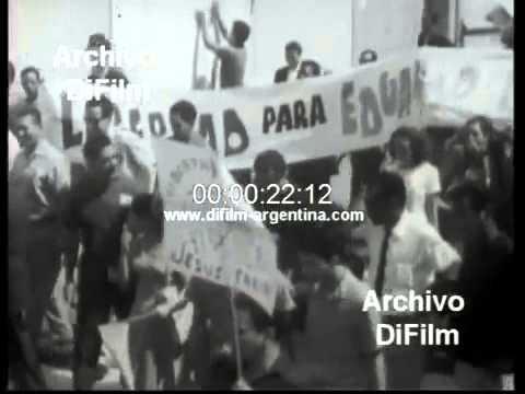 DiFilm - Protest in Venezuela sending troops to Dominican 1965