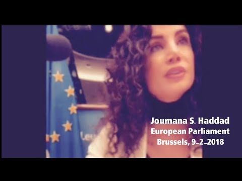 Joumana Haddad - Speech at the European Parliament - 19/2/2018