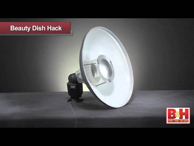 Hack a Beauty Dish to Fit a Flash