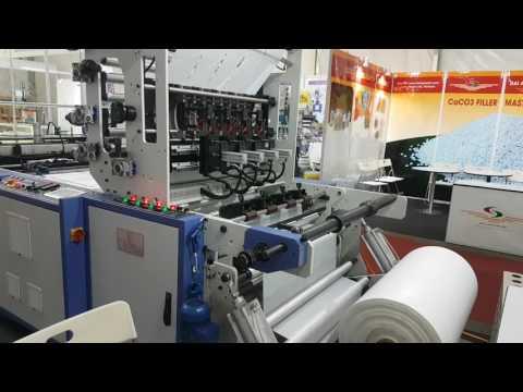 BS-1100 5L BOTTOM WELD BAG MACHINE AT BANGLADESH PLASTIC EXHIBITION (TOTAL 750 PCS/MINUTE)