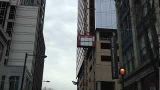 Construction Elevator Ascending High Rise