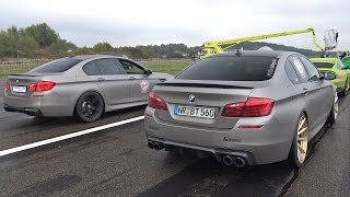 840HP BMW M5 F10 vs 980HP Audi RS6 Avant vs 750HP Nissan GT-R R35