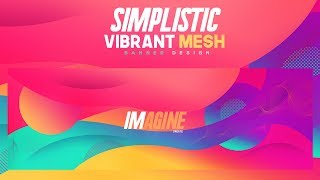 Photoshop Tutorial: Simplistic Vibrant Mesh Banner Design