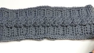 How to Crochet a Headband using the Cable Crochet Stitch