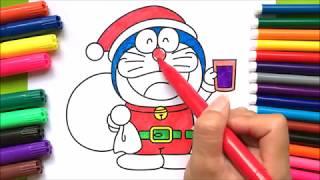 Đồ chơi trẻ em TÔ MÀU TRANH ĐÔRAÊMON làm ông già Noel (Chim Xinh)