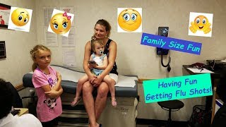 Getting Flu Shots for 8 of our 9 Kids - Brave Children - Family Fun (2018)