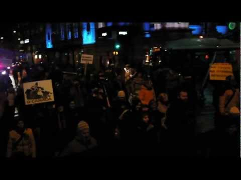 Enbridge Protest Rally Vancouver Jan 14th 2012