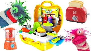 Learning Video for Kids Cooking With Fizzy Pretend Food Kitchen