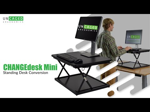 CHANGEdesk MINI Simple Cheap Adjustable Height Stand Up Desk Riser, Standing Desk Conversion