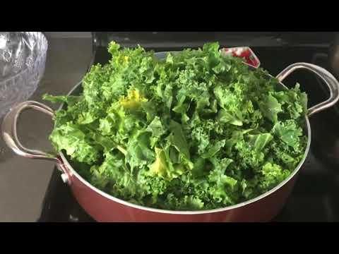 Америка : Кейл капуста жареная . Зелёные листья ???? Кейл очень полезные ! ???? новый рецепт !