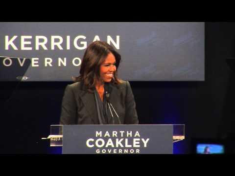 FLOTUS Endorses Martha Coakley in Governor's Race