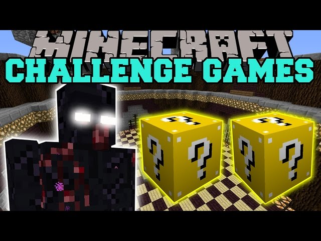 Minecraft MUTANT OBSIDIAN GOLEM CHALLENGE GAMES - Lucky Block Mod - Modded Mini-Game