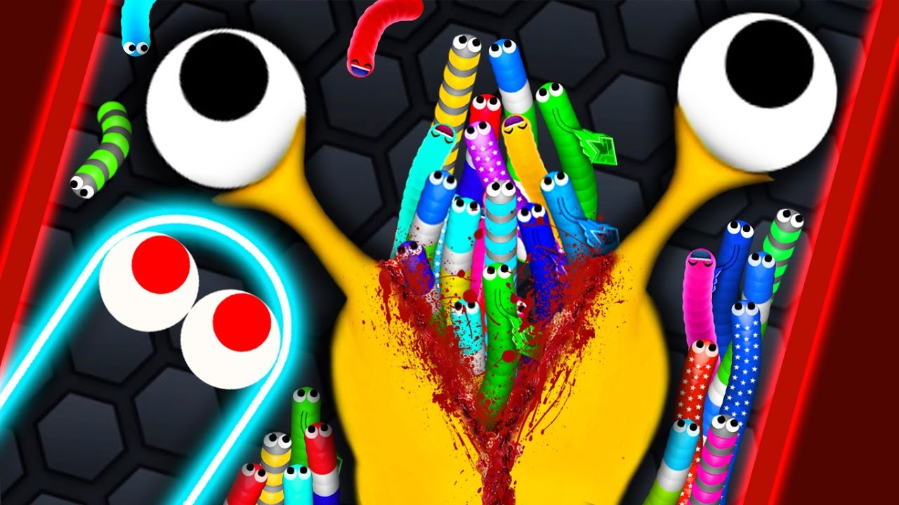 Slither.io - GIANT HACKER SNAKE vs 75600 SNAKES // Epic Slitherio Gameplay (Slitherio Funny Moments)