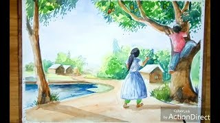 Painting Bangladeshi childhood with watercolor...