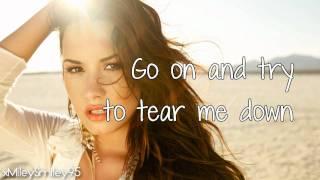 Demi Lovato - Skyscraper (with lyrics)