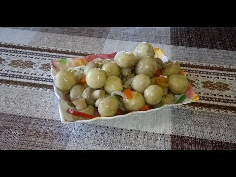 Очень , Очень вкусные маринованные грибы шампиньоны в пряно-медовом маринаде! 3 в 1 !