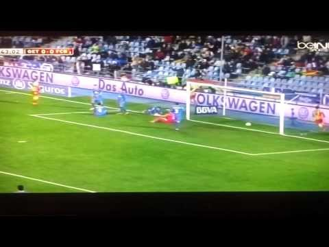 increible lesion de neymar getafe vs barcelona..FULL, HD, 2013