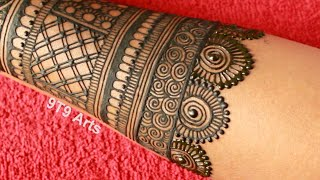 Wedding Special Simple Dulhan Mehndi Design||Full Back Hand Mehdi Design||Easy Bridal Mehndi Designs
