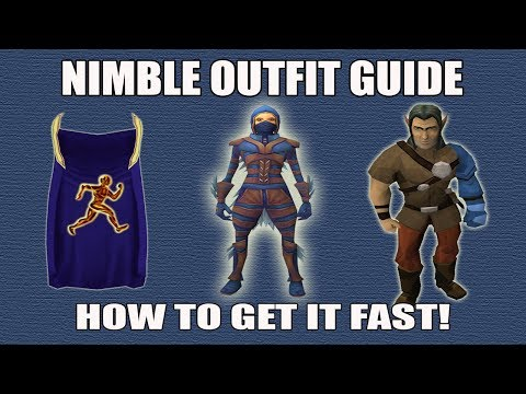 [Runescape 3] How to get Nimble Outfit FAST | Using Agility Skillcape Teleport to the Pit