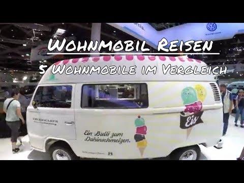 Wohnmobil Reisen 2017 - Wohnmobil Vergleich auf der Caravan Messe