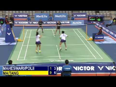 QF - WD - N.K.Maheswari / G.Polii vs Ma J. / Tang Y.T. - 2014 Korea Badminton Open