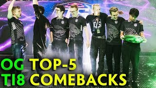 TOP-5 COMEBACKS that let OG win The International 2018