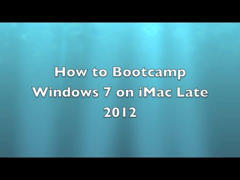 How to Bootcamp iMac 27
