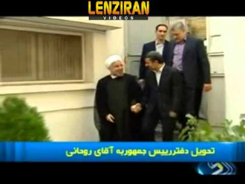 Ahmadinejad hand over his  office to Hassan Rohani before heading to his house !