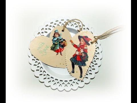 Recycling DIY : Vintage Geschenkanhänger aus Pappe,Geschenkpapier,Vintage gift tagsTapete