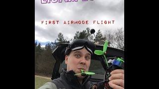 Lisam LS 210 - first airmode flight - FPV FREESTYLE