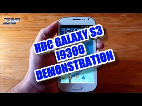 HDC Galaxy S3 i9300 Dualsim MT6575 Phone Demonstration - Samsung Copy / Clone? ColonelZap