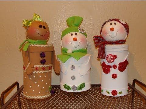 DIY - Dulceros Navideños  con material reciclado / Christmas candy holders