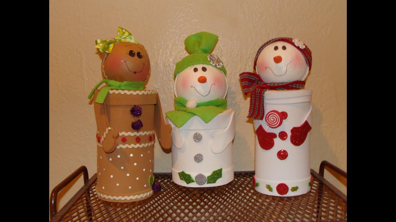 Diy dulceros navide os con material reciclado - Crear christmas de navidad ...