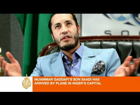 Saadi Gaddafi transferred to Niger's capital