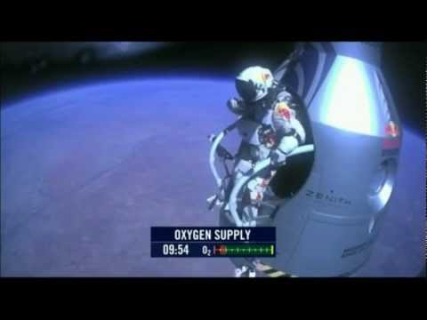 Felix Baumgartner Space Jump freefall