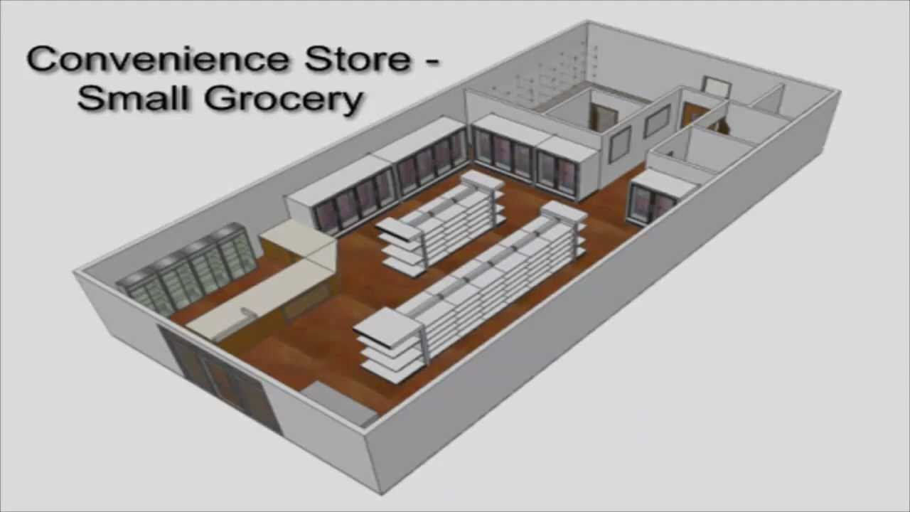 Small Grocery Store Layout Design