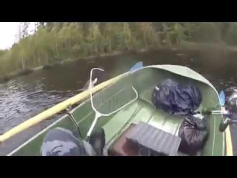 удачная рыбалка видео утопил лодку